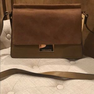 Vince Camuto Suede and Leather Handbag
